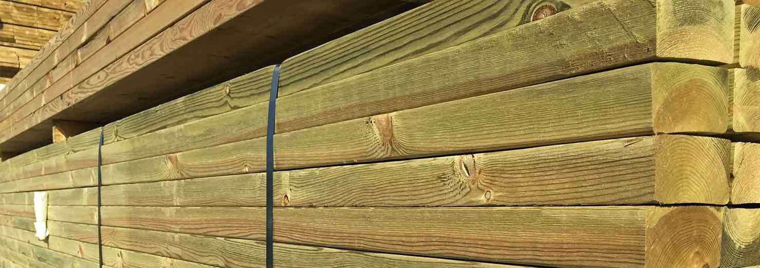 Carcassing timber for Tanalised timber decking